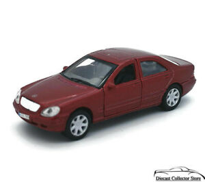 """Mercedes-Benz S-Class WELLY Diecast 1:38 Scale 4.5"""" Red"""