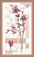 Counted cross stitch kit Rosy Buds Flowers by Golden Fleece