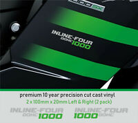 INLINE- FOUR 1000 DOHC Decals Stickers 10year Vinyl FITS Kawasaki NINJA ZZR SX