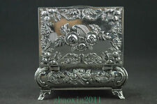 collectible silver handwork carving jewel box