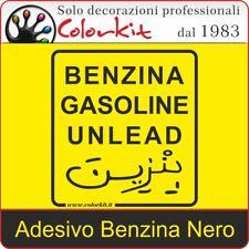 Adesivo Benzina Nero su Sfondo Trasparente cm. 10x11 - 000257 by Colorkit