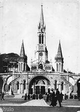 A444 Photographie Originale 1900 Lourdes Basilique Notre Dame du Rosaire