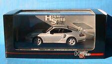 PORSCHE 911 GT2 2000 SILVER HIGH SPEED 1/43 ARGENTE 1:4
