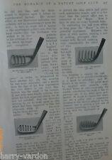 Old Patent Golf Club New Zealand Rugby All Blacks Pelota American Football 1906