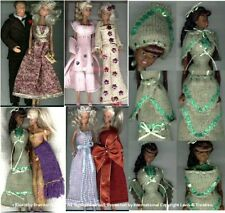"""""""Evening Elegance"""" outfits11-12ins dolls Machineknit"""