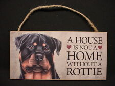 A House Is Not A Home ROTTWEILER wood wooden DOG SIGN wall ROTTIE PLAQUE puppy