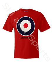 Lambretta Target Mens Cotton T-shirt Sz M Red Retro/vintage Mod