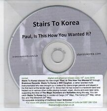 (CO496) Stairs To Korea, Paul, Is This How You Wanted It? - 2010 DJ CD