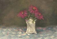 """Coneflower Hues"" Debra Sepos original oil 5 x 7"" perennial echinacea still life"