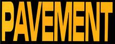 8843 Pavement Yellow Black Logo Indie Rock Alternative Music Sticker / Decal