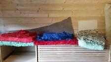 6 Large Pieces Vtg Deadstock Faux Velvet Cushion fabric Beautiful colours 1970's