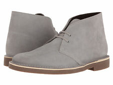 Clarks Bushacre II US 13 M Grey Suede Desert Chukka Ankle Boots Mens Shoes $100