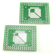 5x QFP to DIP Adapter TQFP/LQFP/FQFP 32/44/64/80/100 PCB Dual Board Converter