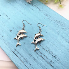 Dolphin Earrings Dolphin Jewelry Mamma & Baby Dolphin, Beach, Gift for Her.