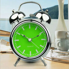 No Ticking Alarm Clock 2.5-Inch Silent Double Bell Alarm Clock With Night Light