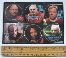 Set of 6 Star Trek Generations Pogs on Original Card Board Paramount Milk Caps