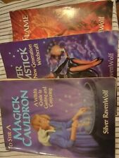 3 Witchcraft Wicca Spells Pagan Magick Books Silver Ravenwolf Lot Wiccan Witch
