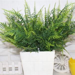 35X Patio Garden Yard Artificial Fake Asparagus Leaves Fern Grass Ornament JP