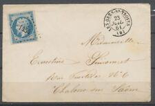 1861 Env. N°14 Obl. PC1454 LES GRES-Ss-TROYES AUBE(9) SUPERBE. P2700