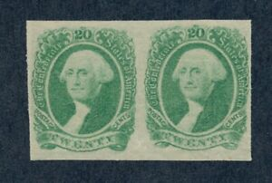 drbobstamps US CSA Scott #13 Mint Hinged Pair Confederate Stamps Cat $100