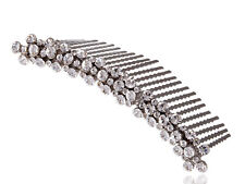 Elegant Women Silver Clear Crystal Rhinestone Wedding Bridal Hair Comb Clip Gift