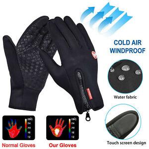 Winter Waterproof Windproof Anti-slip Thermal Touch Screen Gloves Ladies Mens
