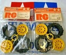 NEW 4 x Never Used 1/12 Tamiya Porsche 959 Rally Tires + Rims 5308