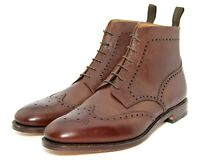 Mens Loake George Brogue Ankle boots Goodyear Welted UK 11 F EU 46 US 12 New