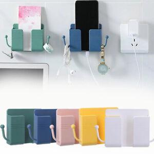 1X Wall Mounted Holder Storage Box Remote Control Mobile Phone Plug Organizers