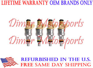 Set of 4 OEM Fuel Injectors FITS 1987-1988 SAAB 900 2.0L