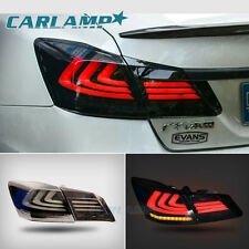TAIL LIGHTS 4 DOOR SEDAN LED BRAKE FOR 2013 2014 2015 HONDA ACCORD SPORT EX LX