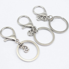 2pcs Round Lobster Trigger Swivel Clasps Hook Clips Keychain Key Ring Chain
