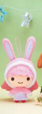 NEW Little Twin Stars Winter Bunny Lala Plush Keychain 13cm AMU-PRZ8618 US Sellr