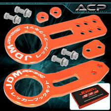 For Ford Off Road Racing Track Heavy Duty Orange Front Rear Tow Hook Kit