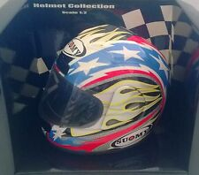 MINICHAMPS HELMET COLLECTION 1:2 HELM STERBEN CAST SUOMY 2001 B. BOSTROM ART