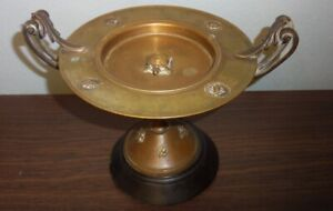 Neo Classical Grand Tour Bronze & Marble Tazza w/ Turtle & Insects
