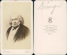 Béranger, chansonnier français vintage CDV albumen carte de visite, Pierre-Jean