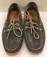 Sperry Top Sider Women 8.5 M Gold Cup Boat Shoes Navy Blue Leather