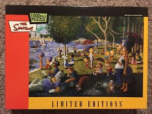 The Simpsons Limited Editions Sunday Afternoon On The River 1000 Piece Puzzle