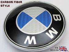 BMW E46 E60 E61 E81 E82 E87 E90 E91 E92 X5 82mm Capó Insignia De Carbono logo emblema