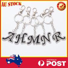 Alphabet Letters Keyring Keychain Car Key Ring Metal Gift Diamonds Name Lover