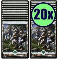 20 Zendikar Rising Forest #278 MTG Basic Full Art Land Lot Magic MTG Mint