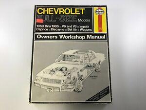 HAYNES 704 (US) CHEVROLET FULL-SIZE MODELS 1969-1986 V6/V8 WORKSHOP MANUAL