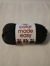LION BRAND COLOR MADE EASY YARN, BULKY-5, IN COAL, 1 Skein