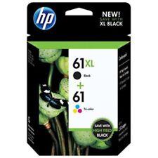 Genuine HP 61 XL Black & Standard Tri Color ink cartridge (CZ138FN) Combo 2/Pack