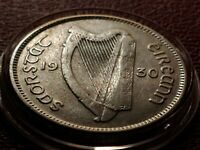 Very Fine Original with Fine Harp 1930 Ireland Silver Shilling with Holder