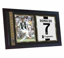 New Cristiano Ronaldo Juventus signed photo print autograph poster FRAMED MDF