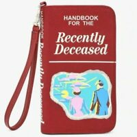 Beetlejuice Handbook Recently Deceased wristlet