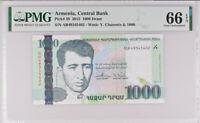 ARMENIA 1000 1,000 DRAM 2015 P 59 GEM UNC PMG 66 EPQ