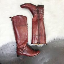 Frye MELISSA HARNESS INSIDE ZIP ANTIQUED/POLISHED LEATHER Tall Boot  Size: 7B